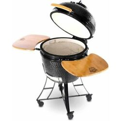 Ceramic Barbecue Grill Oven Bbq Outdoor Cooking Stand Briquettes Charcoal Wood