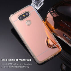 For LG G5 Shockproof Mirror Rubber TPU Rugged Bumper Lady Case Skin Soft Cover
