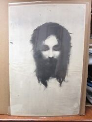 Black /white Poster Portrait Carbon Shroud Of Turin Style 1970and039s Ing1050
