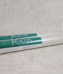 Beacon House Pale Pink Cream Beige Green Old World Script Letters 2 + Roll Lot