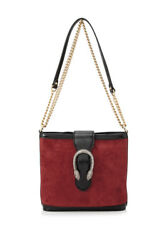 Gucci Dionysus Medium Bucket Bag (Red; Suede Patent Leather)