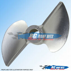 Rc Boat Alloy Cnc Sharpened/balanced 2 Blade Prop Reverse 65mm 1.4p 4.76mm 6514r