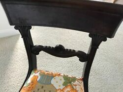 Antique Chairs 1860 Vintage Andnbsp4 Andnbspcovered With Modern Fabric Over Original