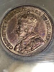 1912 Beautiful Canadian Silver Five Cents - ICG GRADED MS60