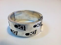 Antique Original Mexican Jewelry Mexico Sterling Silver Bracelet M1799