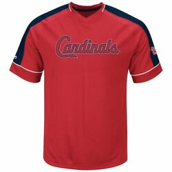 St. Louis Cardinals Mens Lead Hitter 2 Synthetic V Neck Baseball Jersey