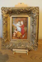 victorian watercolour dated 1818  by John linnell 1792 - 1882 the new puppy