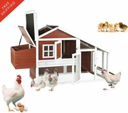 Chicken Bantams Coop with View 2-Story Farm Animals Pets Nesting House Shelter