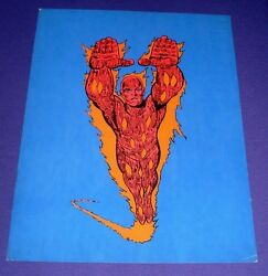 The Human Torch Poster 1970, Marvel Super-heroes Mmms 15 X 19 Jack Kirby Art