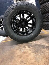 20x10 Sledge Black Wheels 35 Fuel At Tires Package 6x5.5 Toyota Tacoma