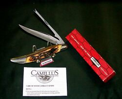 Camillus 31 Sword Brand Knife Indian Stag Handles 1973 Usa W/packaging,papers