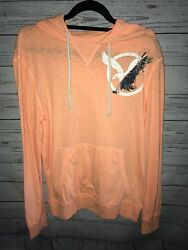 AMERICAN EAGLE pull over Casual NEON ORANGE Hoodie THIN Men#x27;s Size M $20.99