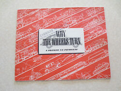 Original 1941 Plymouth Automobiles Advertising Booklet - Why Wheels Turn