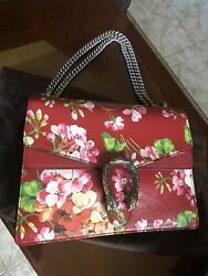 Gucci Red cherry blossom médium bag
