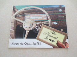 Original 1941 Plymouth Automobiles Advertising Booklet - Here's The One For 41