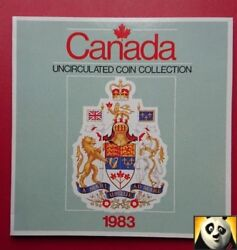 1983 Canada Royal Mint Uncirculated Collection Coin Set Pack 1 Cent - 1 Dollar