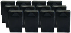 12 Pack Black Crush-proof Plastic 2 Piece Cigarette Case For King And 100s - 3203