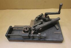 Tesch Mfg. Co. No. 182 Hand Saw Swage Tooth Setter Very Old D6777