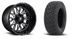 22x10 D611 Fuel Stroke Black Wheel And Tire Package 33 Fuel Mt 6x135 Ford F150