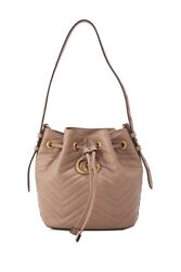Gucci GG Marmont Bucket Bag (Beige Brown; Leather)