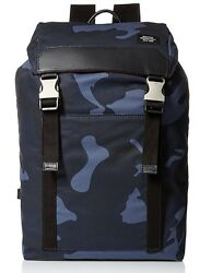 Jack Spade Men's Waxwear Army Backpack In Blue Camo