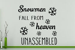 Snowmen Fall From Heaven Unassembled Wall Art Decal Sticker Picture Poster