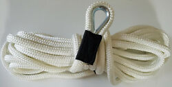 Double Braid Anchor Line 5/8 X 75and039 - White / Usa Made / Non-fading - Nice