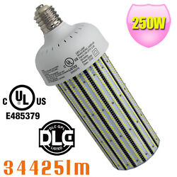 40pcs DLC 250W LED Corn Bulb Retrofit 1000W MH Warehouse Gym High Bay Light E39