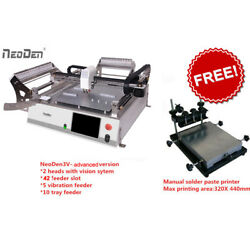 NeoDen3V Pick and Place machine equip 42 feeders plus free charge of printer-J