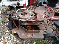 Antique Swisher Mower For Parts Or Repair Very Rare