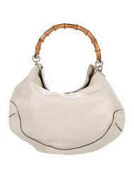100% Authentic Large Off White Gucci Satchel Hobo Bag