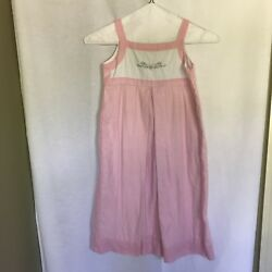 Highland Porch 6x Girls Pink Gingham Dress With Floral Embroidery