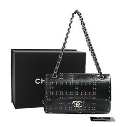 CHANEL A01112 Air Line Matorasse Chain Shoulder Hand Bag Never Used Rare Design