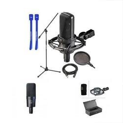 Condenser Microphones Audio-Technica AT4033CL W Stand Pop Filter XLR Cable