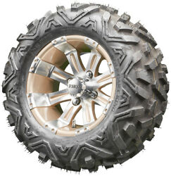 12 Rhox Rx181 Machined And Pearl Golf Cart Wheels And All Terrain Tires Combo