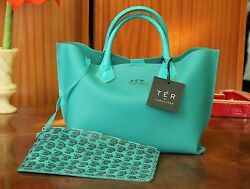 CARACTERE Women's Turqoise Waterproof Beach Bag Free Shipping Made in Italy