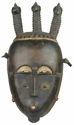 Authenticated Ceremonial African Yaure Tribal Mask