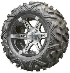 12 Rhox Rx250 Machined Golf Cart Wheels And All Terrain Tires Combo Set Of 4