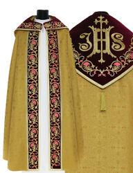 Gold/red Gothic Cope With Stole K740-agc16p Vestment Capa Pluvial Dorada/roja