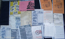 Old Original Bicycle/brochure Convolute Standard Motorcycle Giant Collection