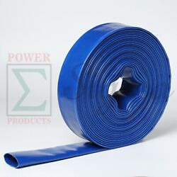 Sigma 2 Inx 300and039 Feet Agricultural 4 Bar Pvc Lay Flat Discharge Water Pump Hose