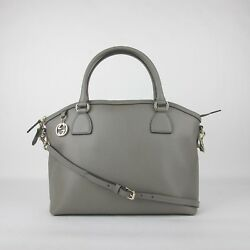 Gucci Grey Leather GG Charm Convertible Dome Bag Wdetachabel Strap 449660 1226