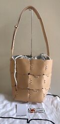 NWT Special  Edition PACO RABANNE Patchwork Med. Bucket Bag Tote Leather Handbag