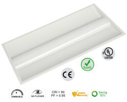 12 packages of Led Troffer 50W 5000K 2x4 (1213x603x76mm) AC100-277V