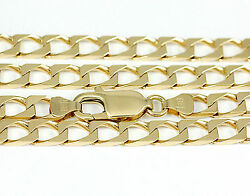16-24 5.0mm 14k Yellow Gold Squared Link Chain New Solid Italian Necklace2440