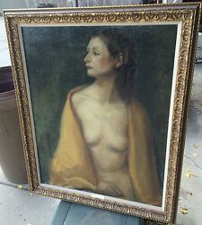 Nude With Golden Wrap Donna Norine Schuster Original Oil Painting- Fabulous
