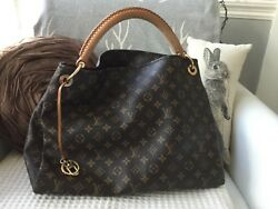LOUIS VUITTON Monogram Canvas Artsy MM Hobo Bag with receipt