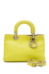 Pre-Owned Christian Dior Leather Crossbody Bag (Yellow; Leather)