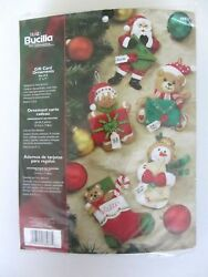 Bucilla Felt Kit Gift Card Ornaments New Unopened Makes 5 86037