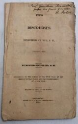 Two Discourses At Rye, Nh January 1825 H Porter Preownedbookcom